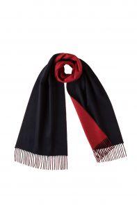 Роскошный двусторонний кашемировый шарф Гамильтон Контраст (Темно-синий и Красный) Hamilton Contrast NAVY and RED REVERSIBLE  (100% драгоценный кашемир),   высокая плотность 7