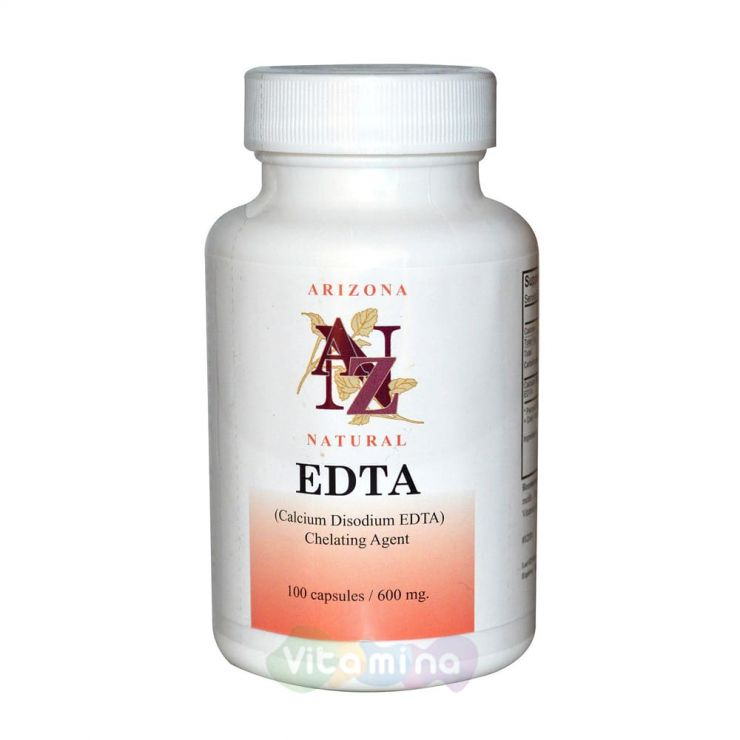 ЭДТА (этилендиаминтетрауксусная кислота) 600 мг. 100 капс.