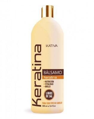 Бальзам-кондиционер для всех типов волос кератиновый укрепляющий KERATINA Kativa, 500 мл.