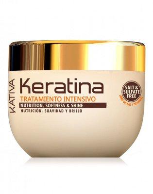 Маска для поврежденных и хрупких волос кератиновая KERATINA Kativa, 500 мл.