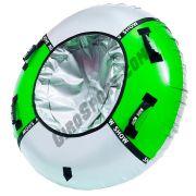 Тюбинг Мега 150 см зеленый/серебро