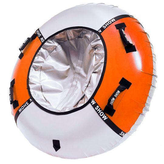 Тюбинг Мега 150 см оранжевый/серебро