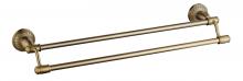 Держатель для полотенец двойной 60 см Savol S-606648C.бронза