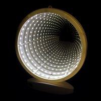 Зеркальный ночник с эффектом бесконечности, форма Круг (1)