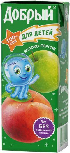 Сок Добрый 0,2л Персик/Яблоко