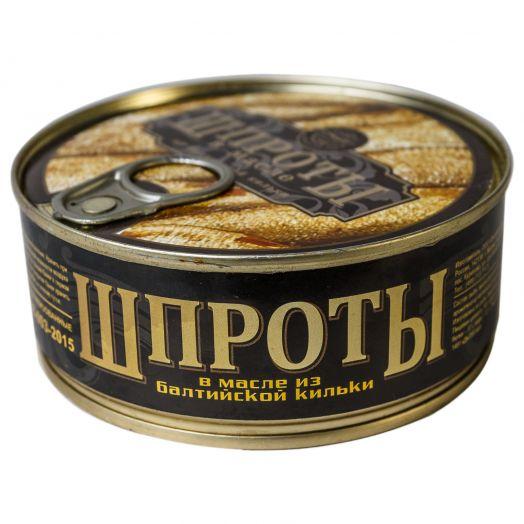 Шпроты в масле ж/б 240г Русский рыбный мир