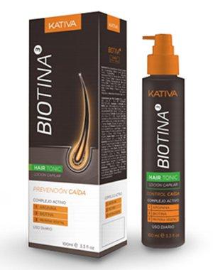 Тоник против выпадения волос с биотином, Kativa Biotina, 100 мл