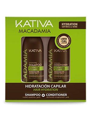 MACADAMIA Набор кондиционер + шампунь для нормальных и поврежденных волос 2х100 мл Kativa