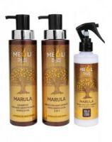 """Шампунь для роста волос с маслом Марулы """"Сила и блеск"""", MEOLI, 400 мл"""
