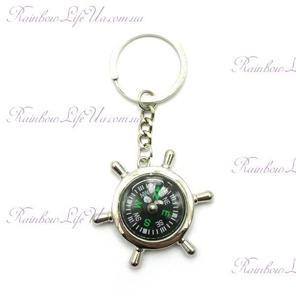 "Брелок для ключей ""Штурвал компас"""