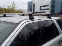 Багажник на крышу на Land Rover Freelander 2, Атлант, аэродинамические дуги