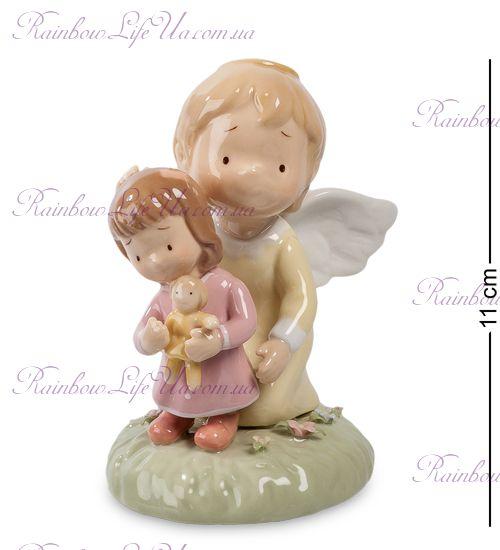 """Фигурка ангел и малышка с игрушкой """"Pavone"""""""