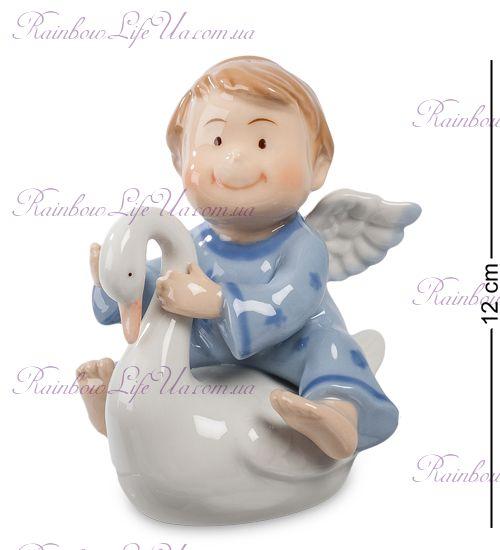 "Фигурка ангел мальчик с лебедем ""Pavone"""