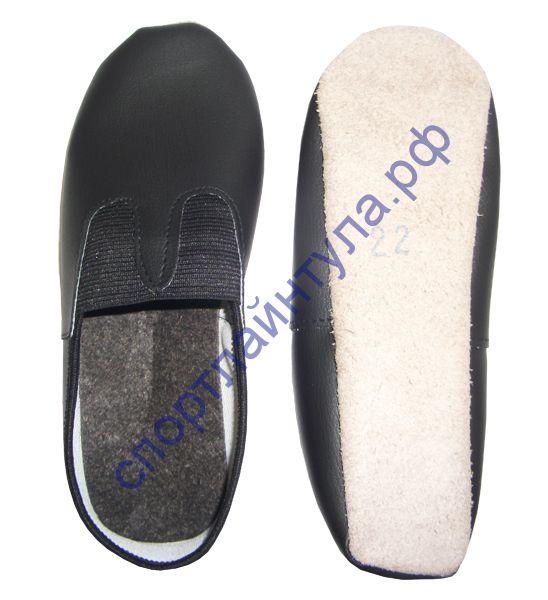 Чешки формованные черные, искусственная кожа, производство Россия.