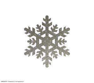Вырубка ''Снежинка-2, 10 см'' , глиттерный фоамиран 2 мм (1уп = 20шт)