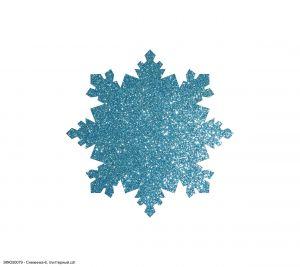 Вырубка ''Снежинка-6, 3 см'' , глиттерный фоамиран 2 мм (1уп = 20шт)