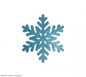`Вырубка ''Снежинка-3, 3 см'' , глиттерный фоамиран 2 мм