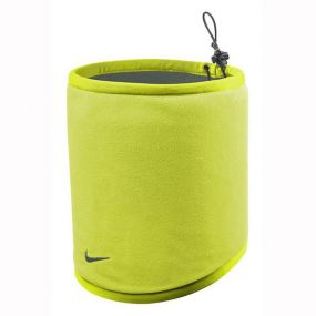 Серо-салатовая двусторонняя флисовая повязка на шею Nike reversible fleece neck warmer