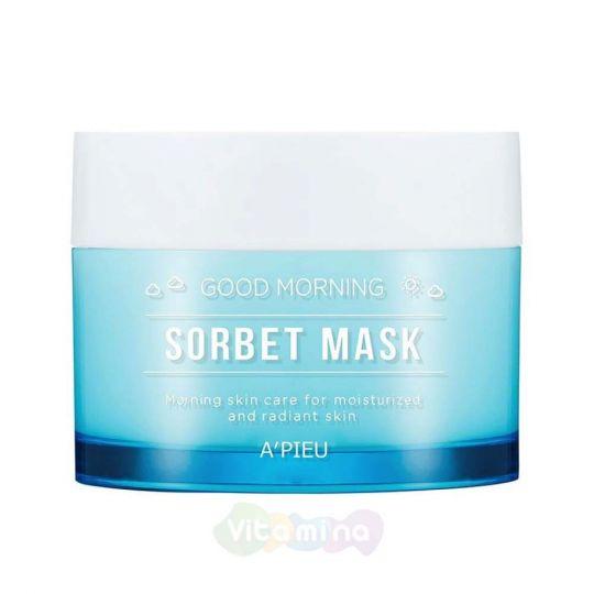 A'Pieu Утренняя увлажняющая маска-сорбет для лица Good Morning Sorbet Mask, 110 мл