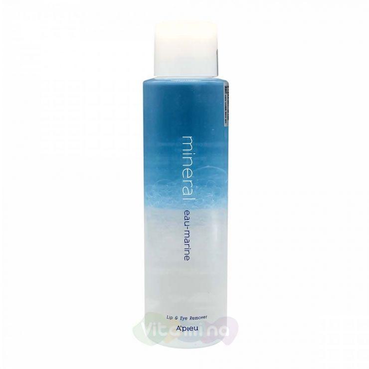 A'Pieu Двухфазное средство для снятия макияжа с губ и глаз с морской водой Lip & Eye Wash Remover Eau-Marine