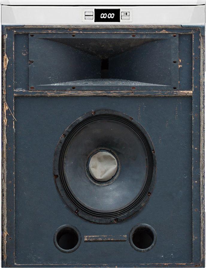 Наклейка на посудомоечную машину - Источник звука
