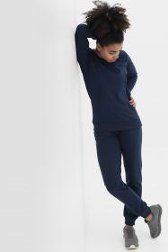Костюм из футера темно-синий джемпер+брюки