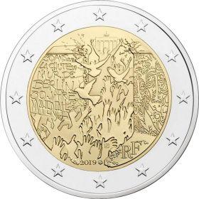 30 лет co дня падения Берлинской стены  2 евро Франция 2019
