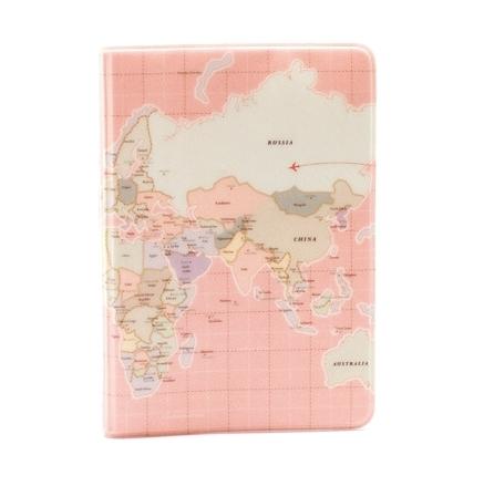 Обложка для паспорта Карта мира
