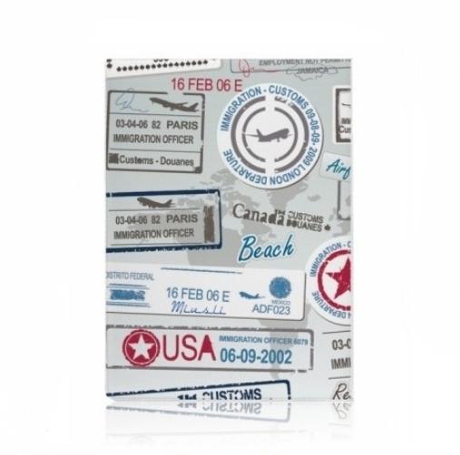 Обложка для паспорта Штампы