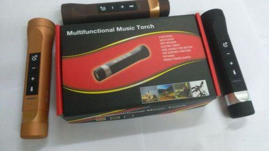 Портативная колонка 4 в 1 Multifunctional music torch