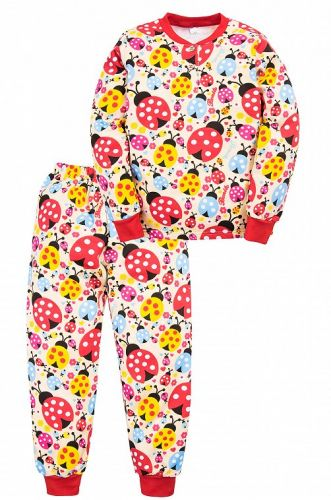 Теплая пижама для девочки 7-10 лет Bonito BN955Д беж