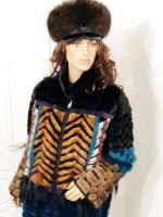 Меховой женский картуз из соболя купить в Москве фото
