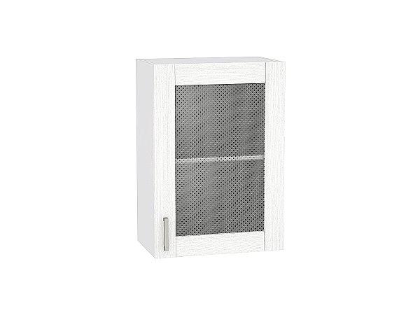 Шкаф верхний Лофт В500 со стеклом (nordic oak)