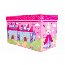 Короб-пуф для хранения игрушек, 60х31х35 см, Рисунок: Принцесса