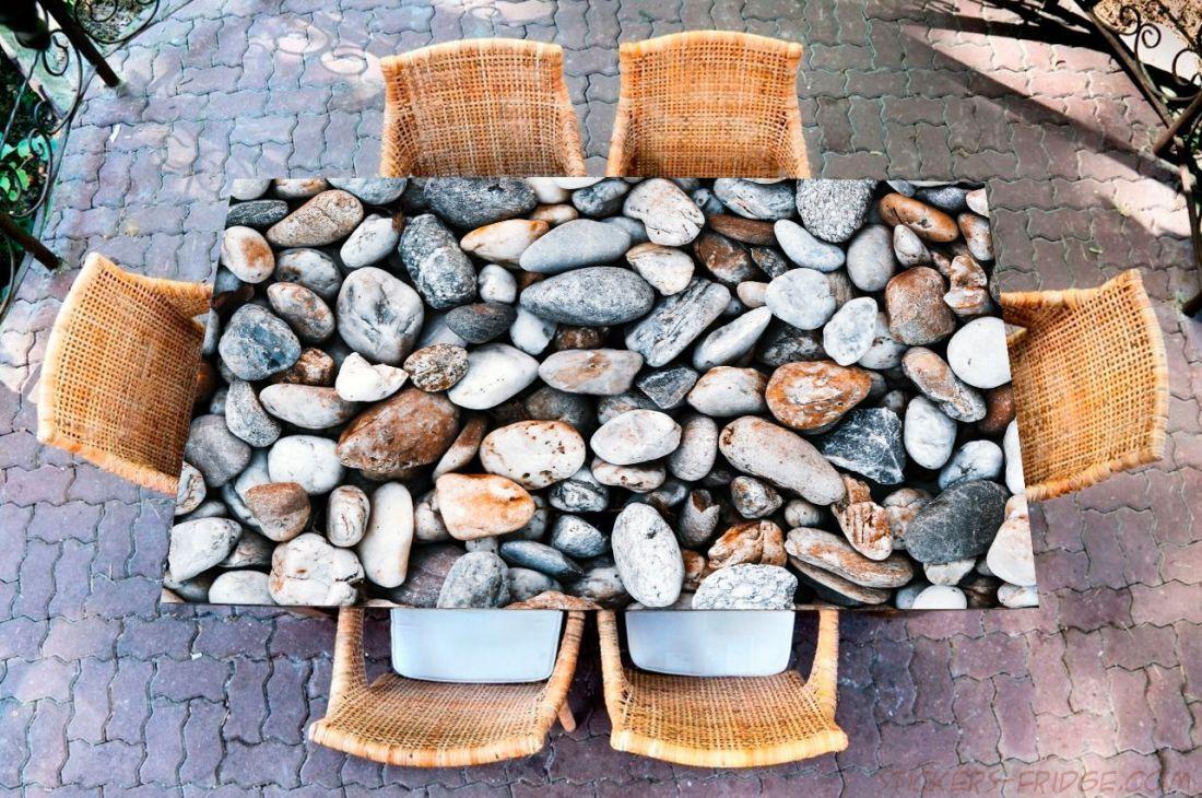Наклейка на стол - Камни