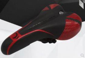 Стильное мягкое седло для велосипеда черно-красное