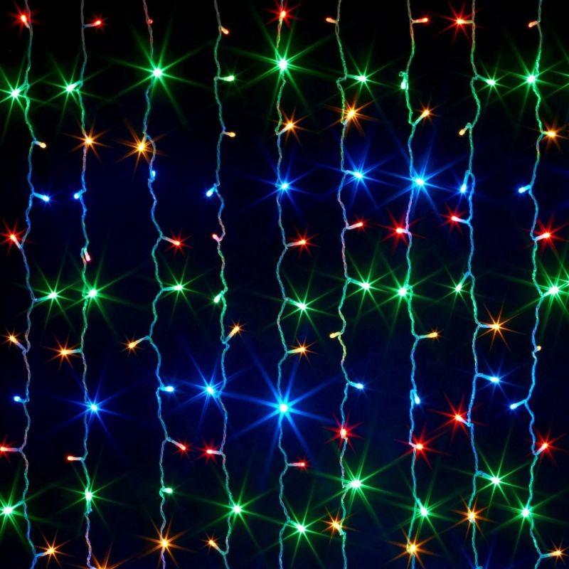 Светодиодная Гирлянда Шторка 160 LED, 1.5х1.5 м, Цвет Свечения Разноцветный