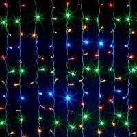 Светодиодная гирлянда Шторка, цвет свечения разноцветный