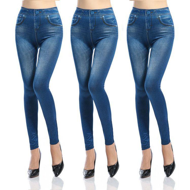 Синие Леджинсы Slim And Lift, Комлект 3 Шт, цвет синий