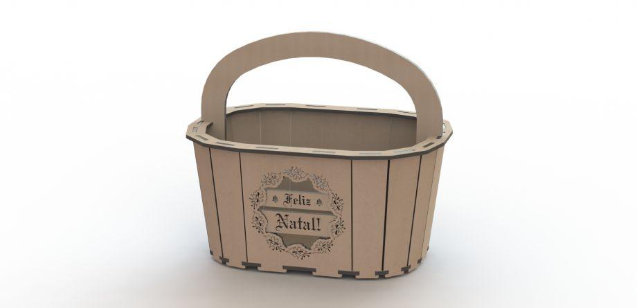 Подарочная корзинка новогодняя