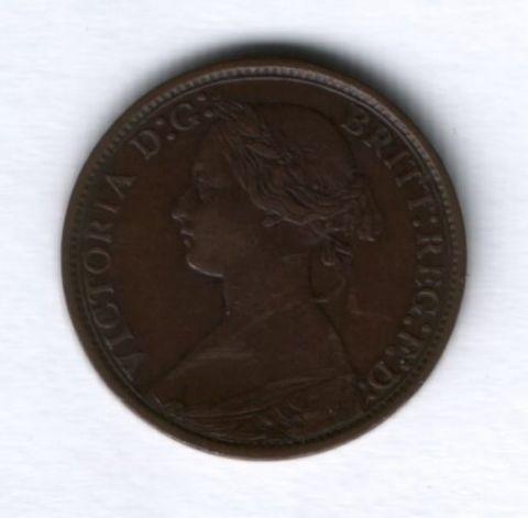 1 фартинг 1873 года Великобритания, редкий год