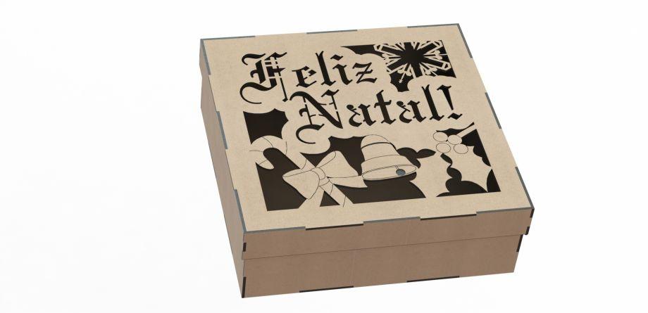 Подарочная коробка счастливого рождества