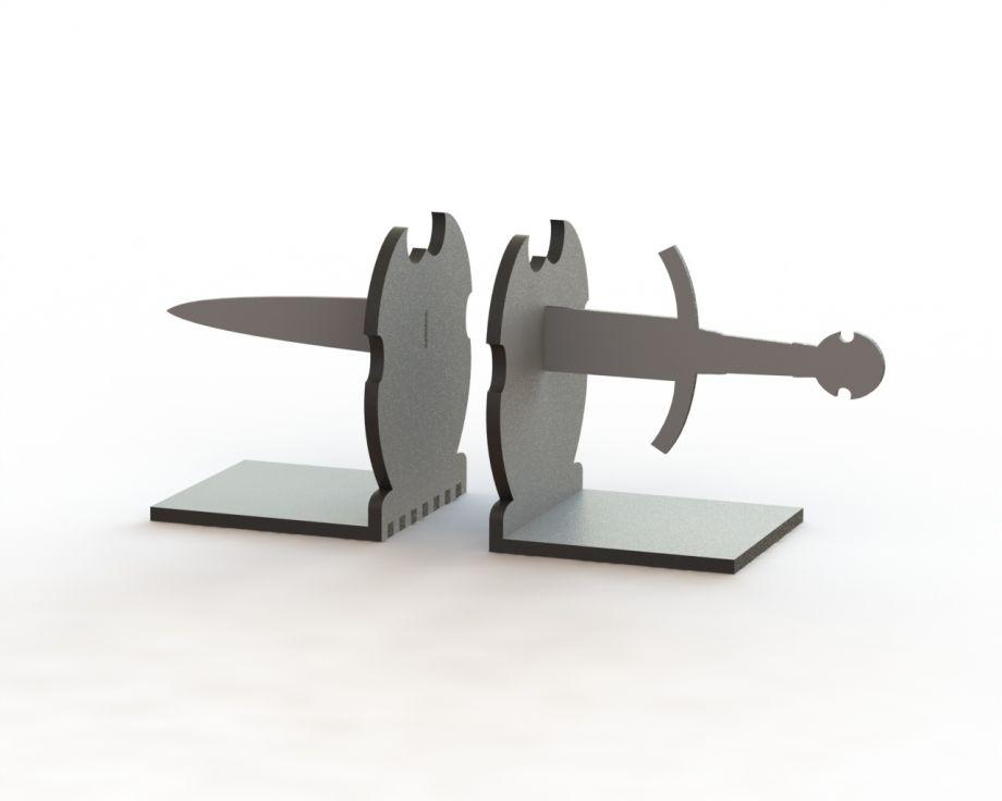 Держатель для книг меч