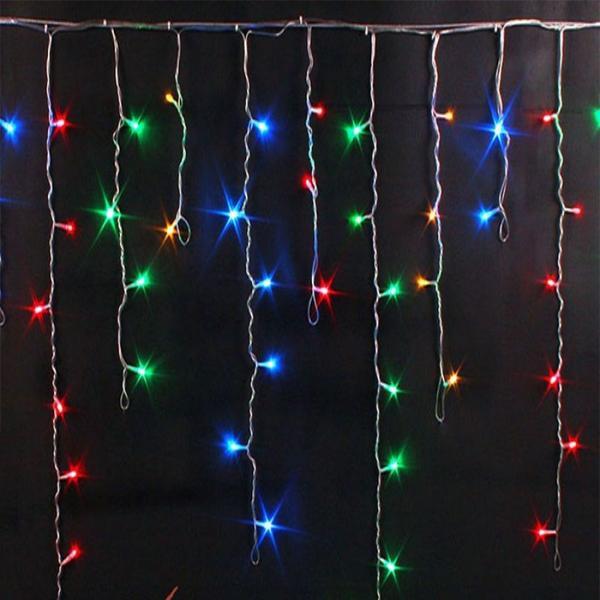 Гирлянда Бахрома 500 LED, 8х0.7 м, Цвет Свечения Разноцветный