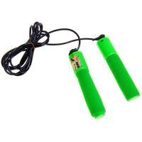Скакалка со счётчиком прыжков JUMP ROPE, цвет зеленый