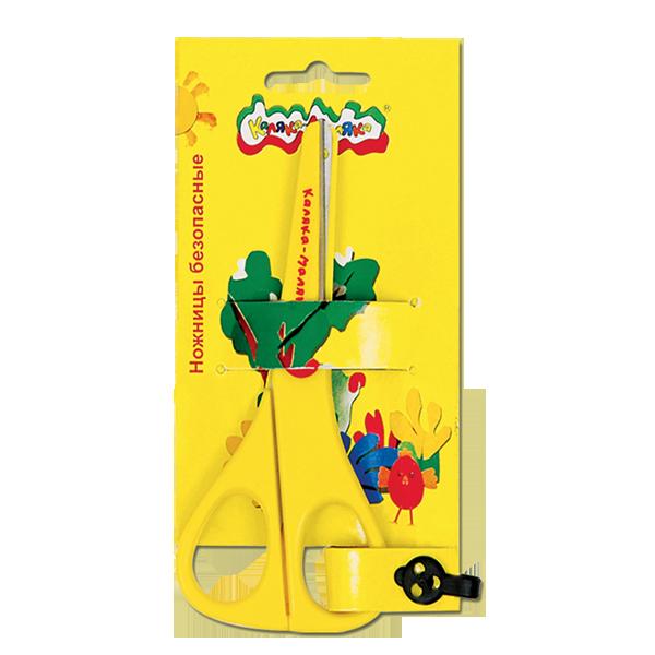 Ножницы детские Каляка-Маляка безопасные, пластик.с метал.лезвиями 13,50 см, европодвес 3+
