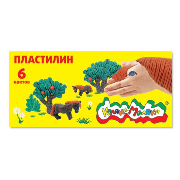 Пластилин Каляка-Маляка 6 цв. 90 г стек, 3+