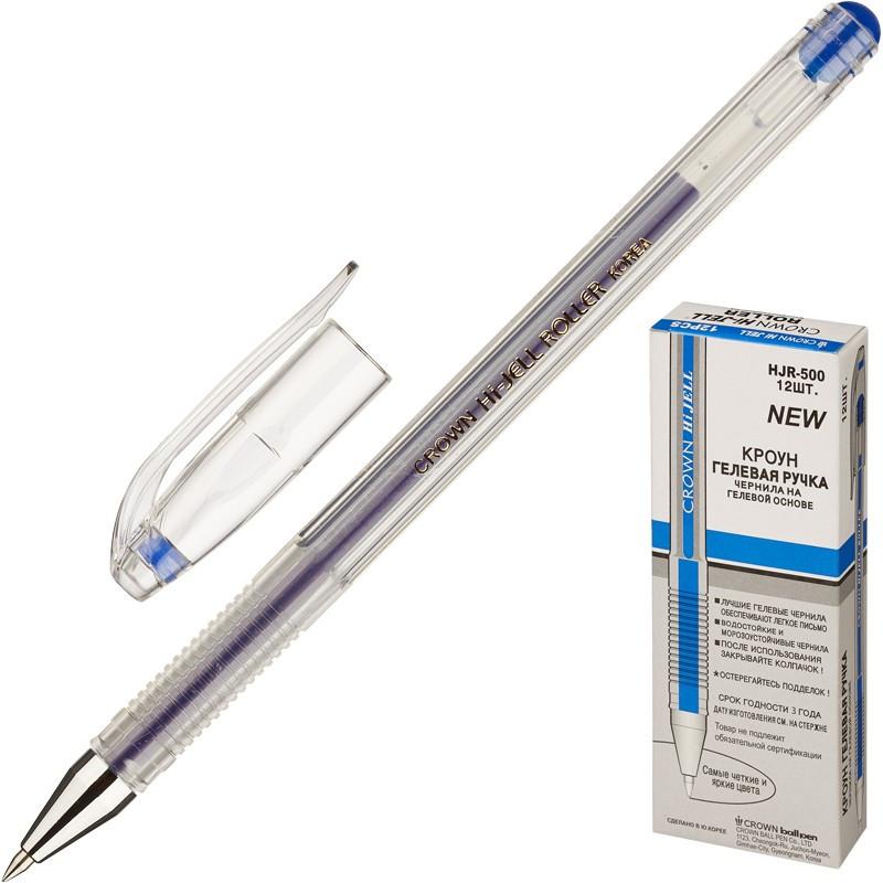 Ручка гелевая CROWN 0,5 мм красная