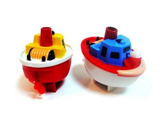 Всплывающий пароходик (заводной)