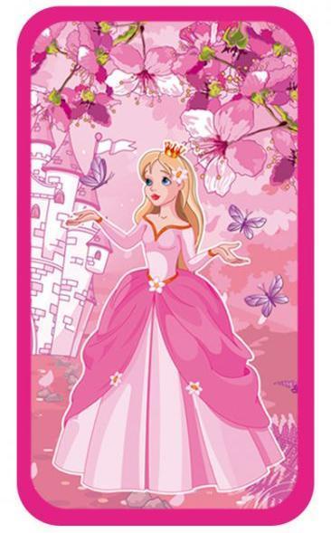 Пенал 3 отд 190*110 ламининированный Принцесса с бабочками